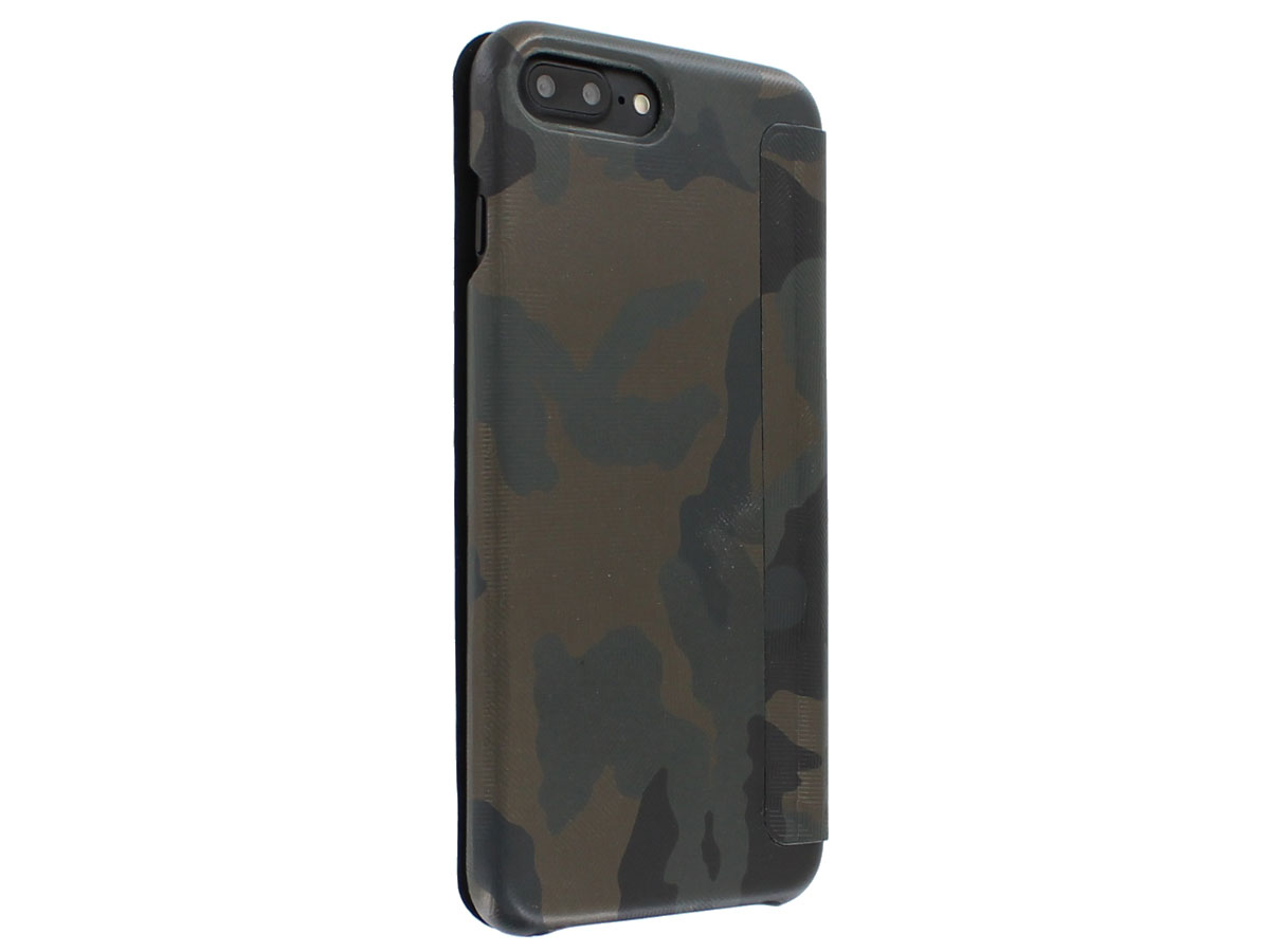 Graffi Oyster Camouflage Leer - iPhone 8+/7+/6+ hoes
