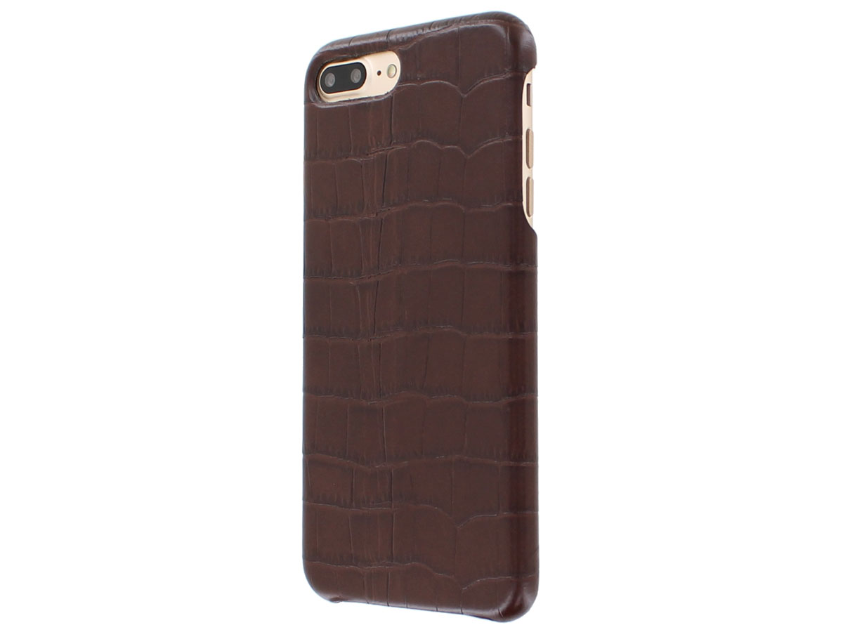 Graffi Cover Croco Bruin Leer - iPhone 8+/7+/6+ hoesje