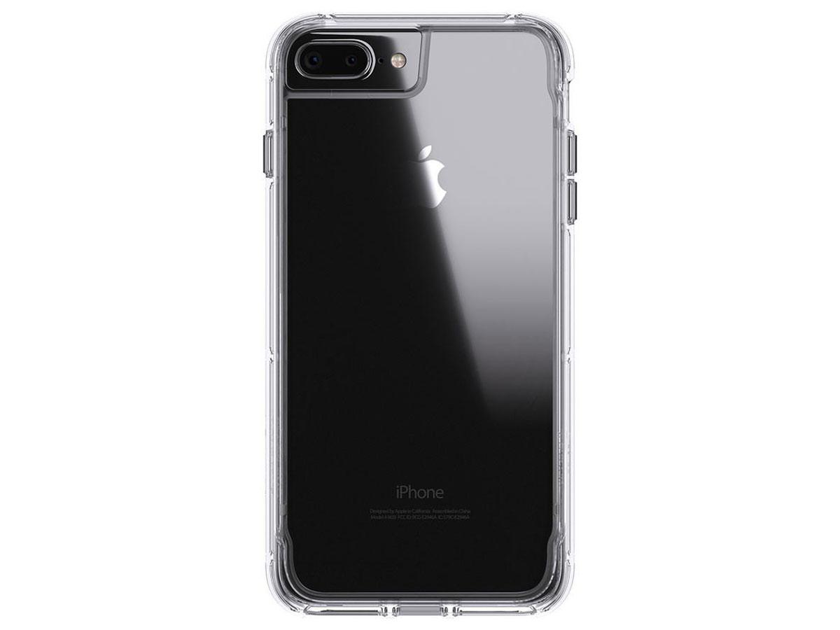 Griffin Survivor Clear Case - iPhone 8+/7+/6s+ hoesje Zwart