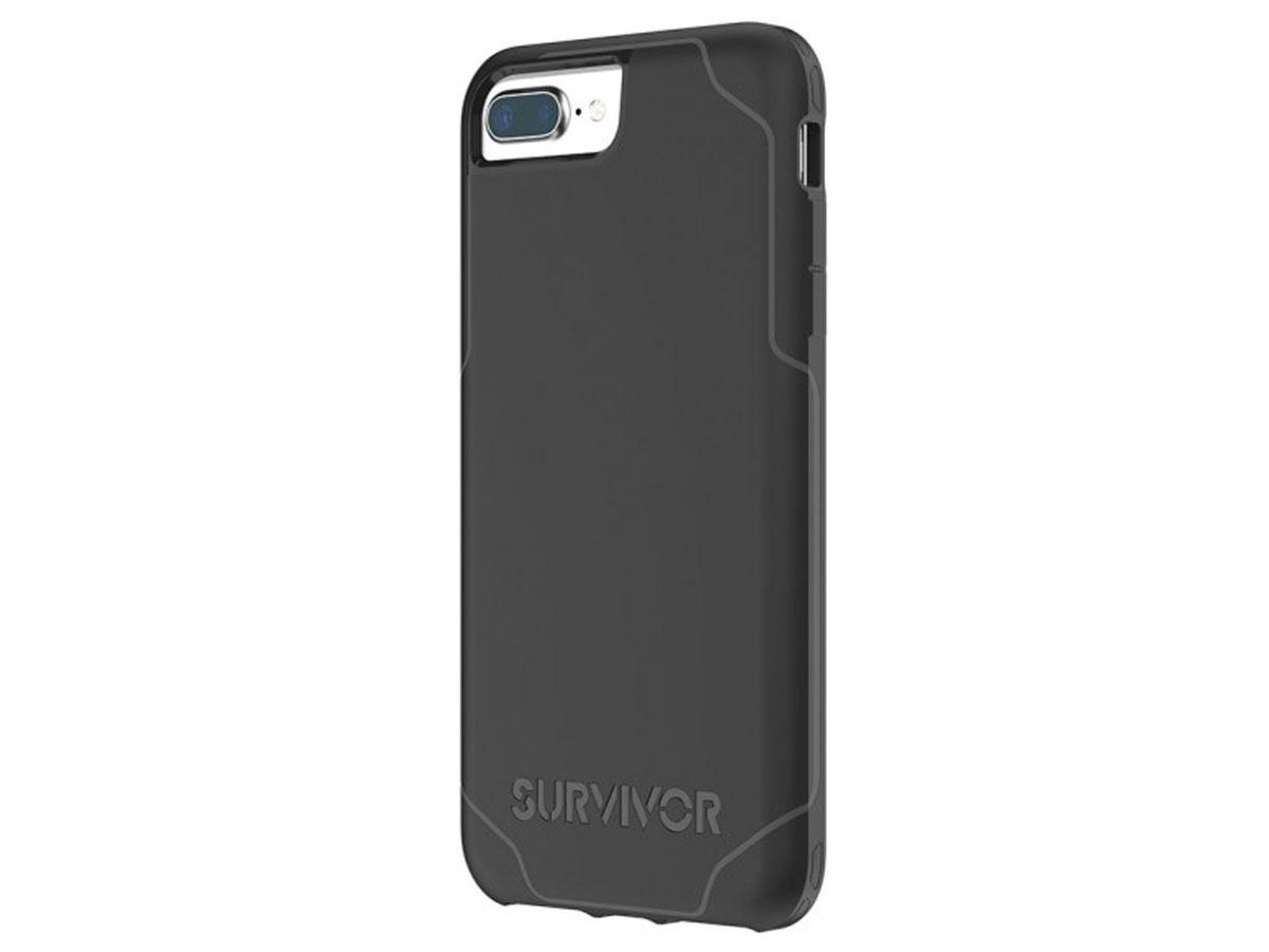 Griffin Survivor Strong Case - iPhone 8+/7+/6+ hoesje Zwart