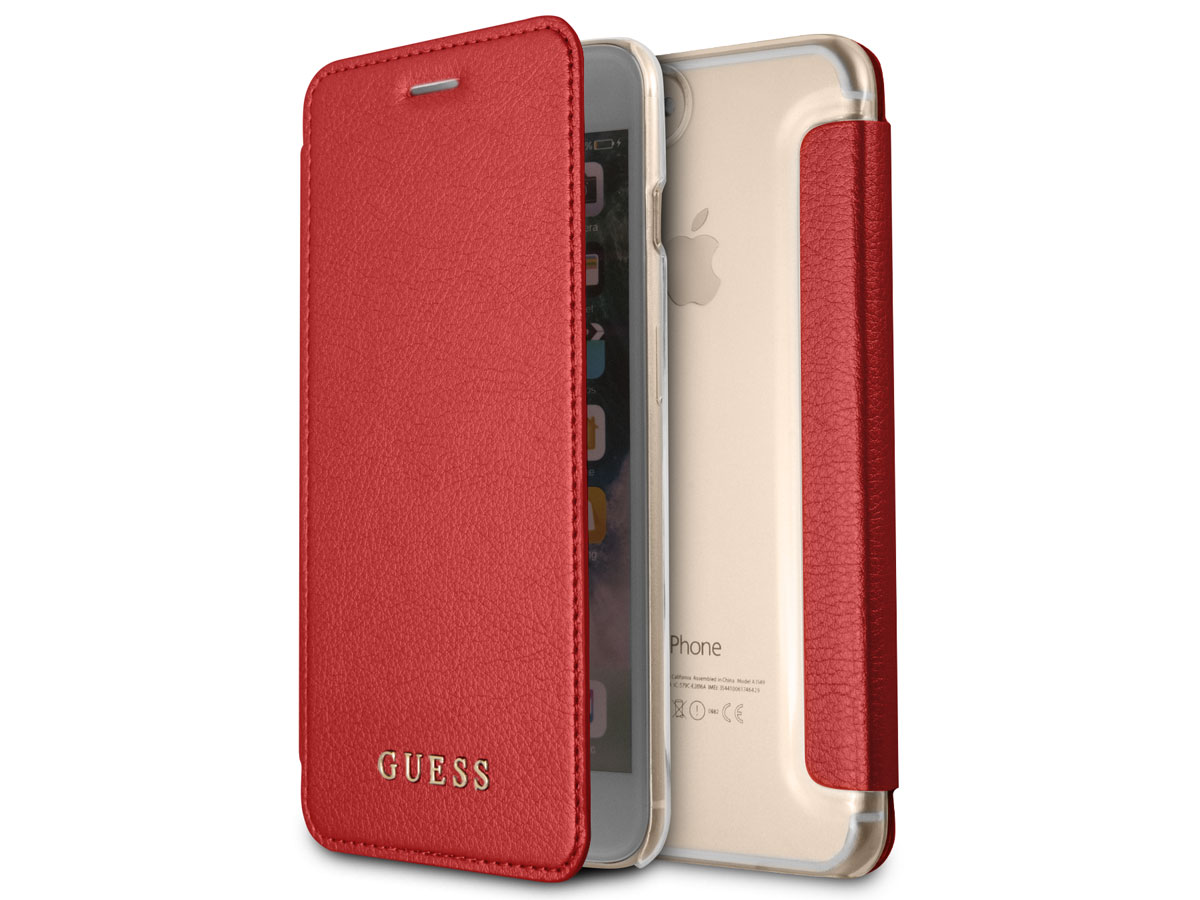 6a3c068b24f Guess Iridescent Book Rood - iPhone 8+/7+/6+ hoesje ...
