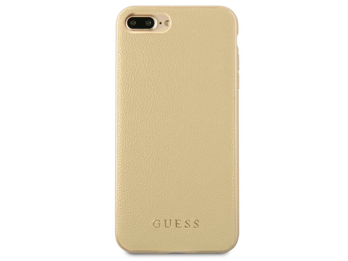 Guess Iridescent Case Goud | iPhone 8+7+6+ hoesje