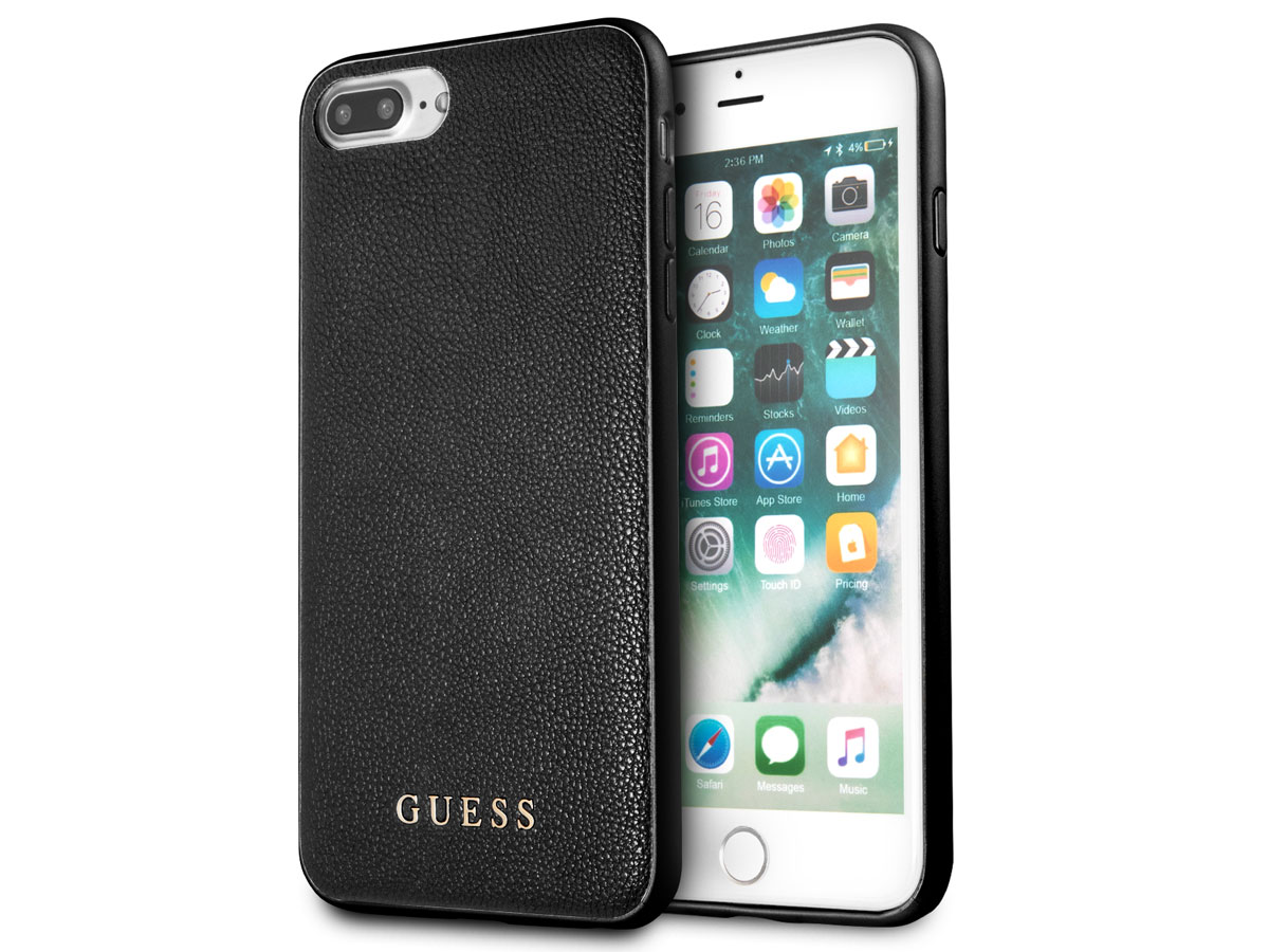 Guess Iridescent Case Zwart iPhone 8+7+6+ hoesje