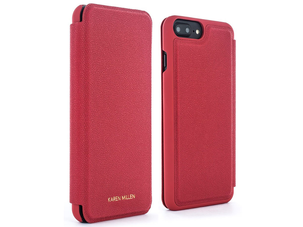 Karen Millen Folio Case Rood - iPhone 8+/7+/6+ Hoesje