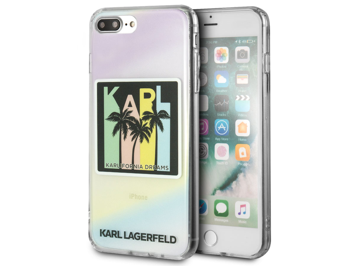 Karl Lagerfeld Karlifornia Dreams Case - iPhone 8+/7+/6+ hoesje Transparant