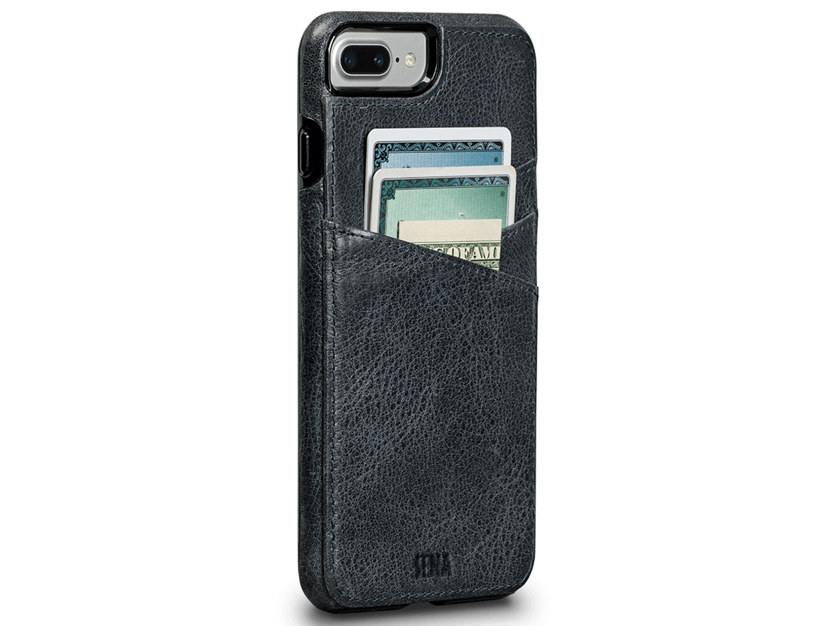 Sena Heritage Lugano Wallet Blauw - iPhone 8+/7+ hoesje