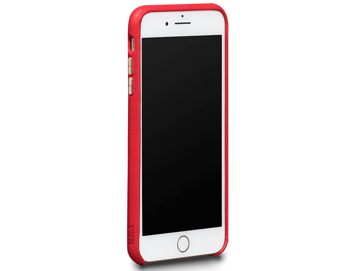 Sena Leather SnapOn Wallet Rood - iPhone 8+/7+ Hoesje