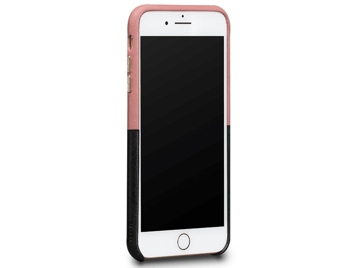Sena Leather SnapOn Wallet Roze/Zwart - iPhone 8+/7+ Hoesje