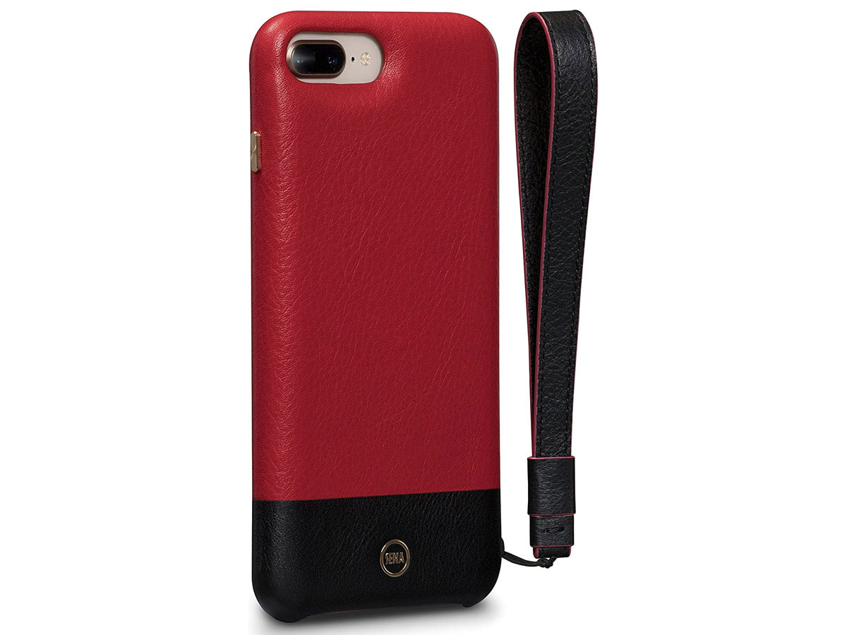 Sena Leather Wristlet Case Rood - iPhone 8+/7+ Hoesje