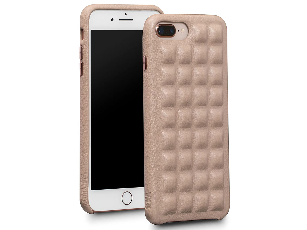 Sena Ruku Leather Case Fog - iPhone 8+/7+ Hoesje Leer