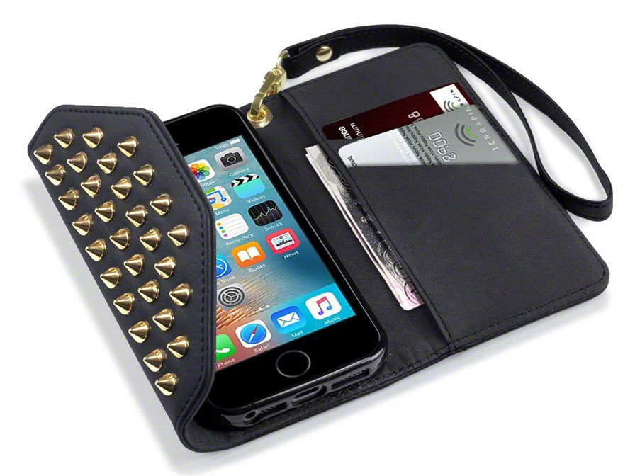 Covert Studded Trifold Case - iPhone SE / 5s / 5 hoesje