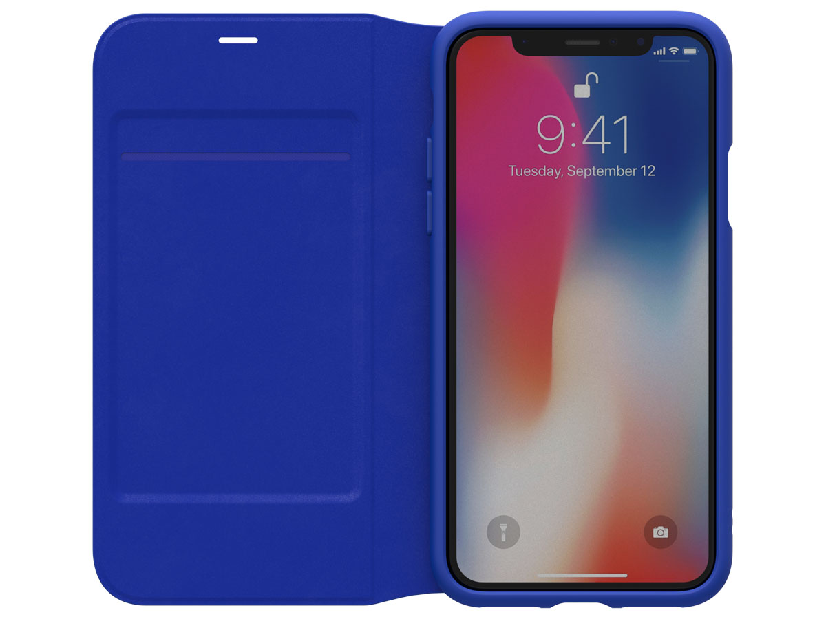 adidas ADICOLOR Booklet Blauw - iPhone X Hoesje