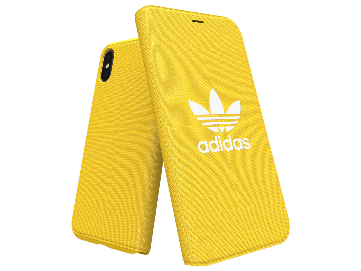 adidas ADICOLOR Booklet Geel - iPhone X/Xs Hoesje