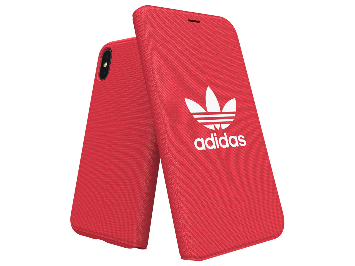 adidas ADICOLOR Booklet Rood - iPhone X/Xs Hoesje