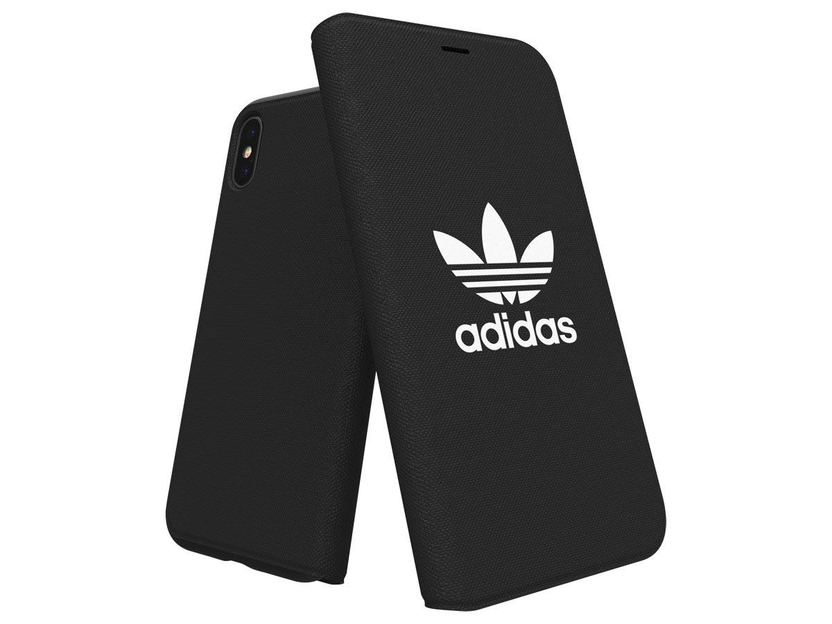 adidas ADICOLOR Booklet Zwart - iPhone X/Xs Hoesje