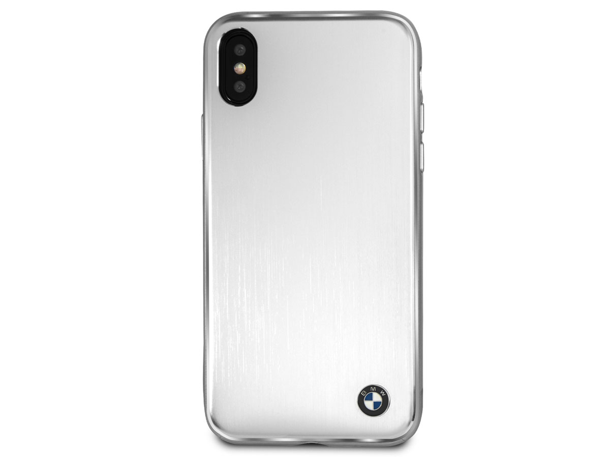 BMW Silver Aluminium Case - iPhone X hoesje