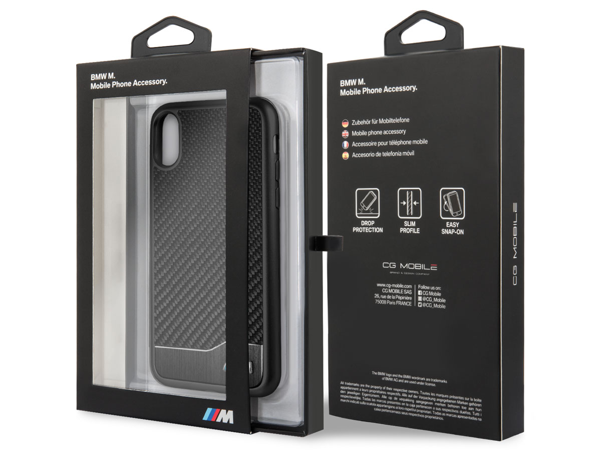 BMW M Carbon Aluminium Case - iPhone X/Xs hoesje