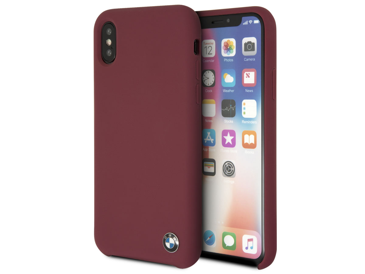 BMW Signature Case Burgundy - iPhone X/Xs hoesje