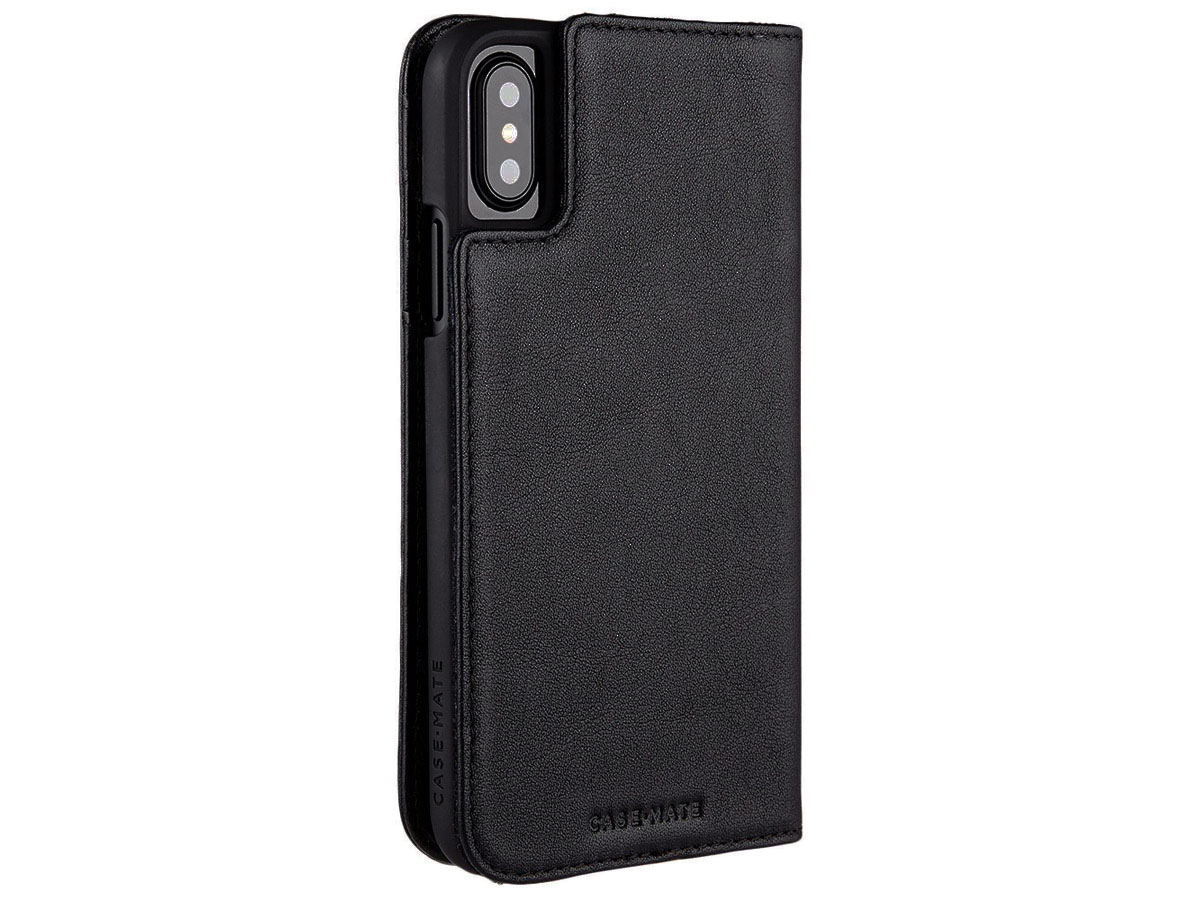 Case-Mate Leather Folio - Leren iPhone X/Xs hoesje