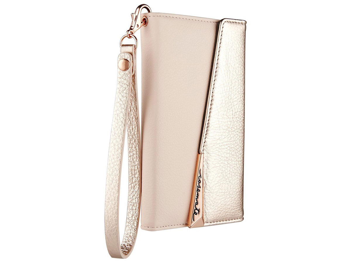 Case-Mate Leather Wristlet Folio Rosé - iPhone X/Xs hoesje
