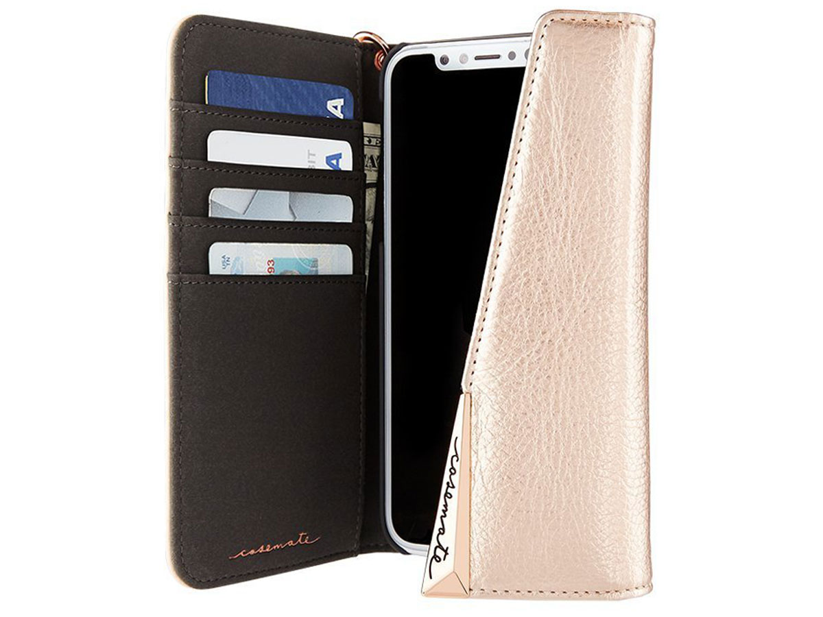 Case-Mate Leather Wristlet Folio Rosé - iPhone X hoesje