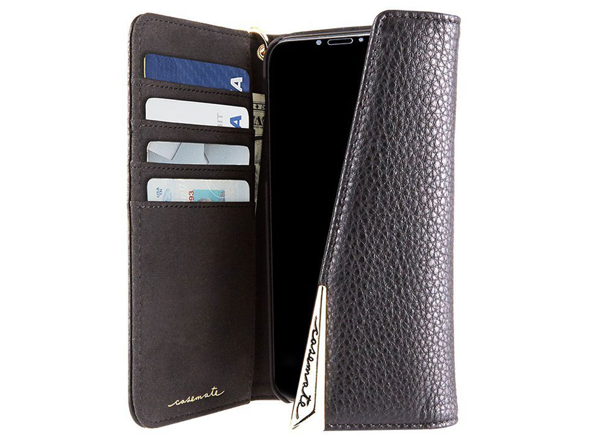 casemate leather wristlet folio iphone xxs hoesje