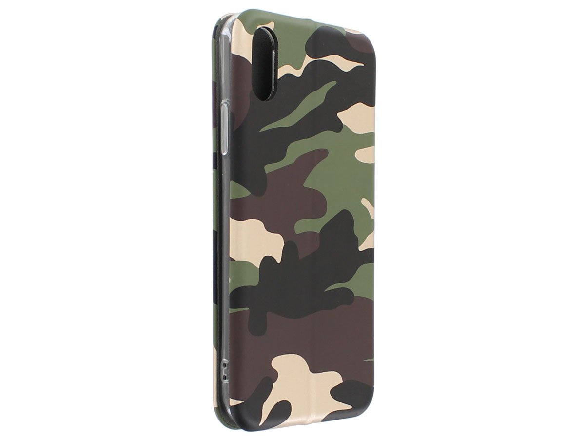 Slim Elegant Bookcase Gold Camo - iPhone X/Xs hoesje