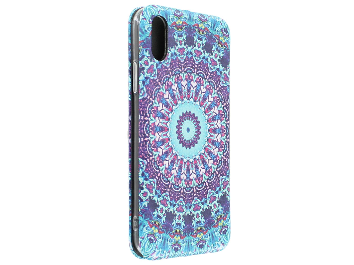Slim Elegant Bookcase Mandala - iPhone X/Xs hoesje