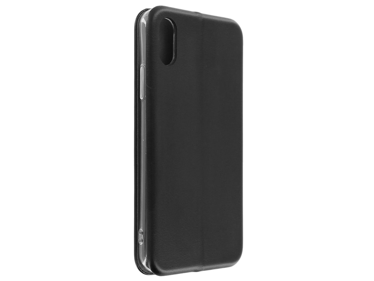 Slim Elegant Bookcase Zwart - iPhone X/Xs hoesje