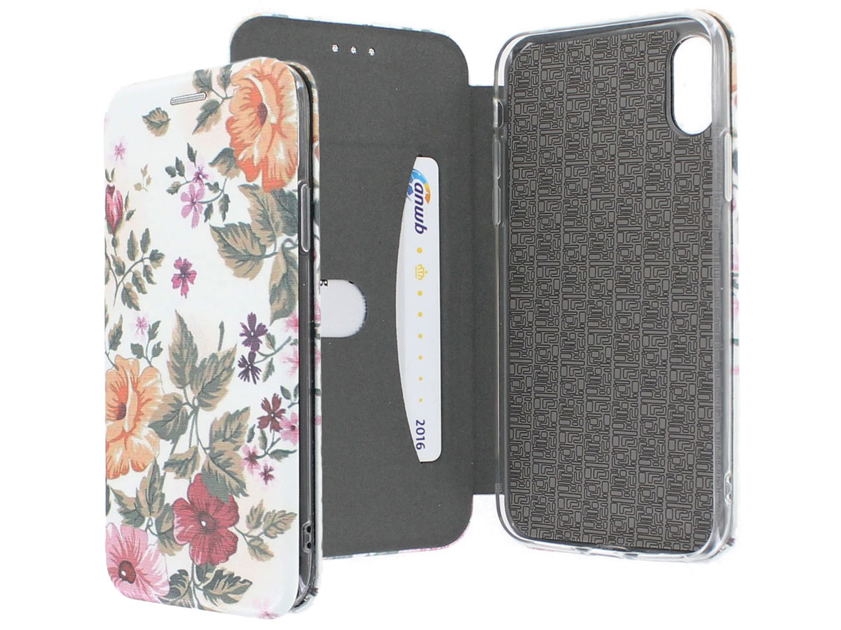 Slim Elegant Bookcase Floral - iPhone X hoesje