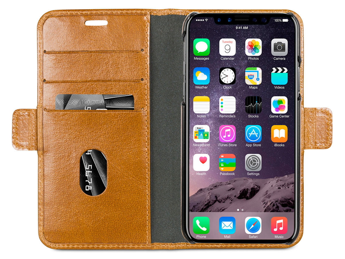 dbramante1928 Lynge Folio Tan - iPhone X/Xs hoesje