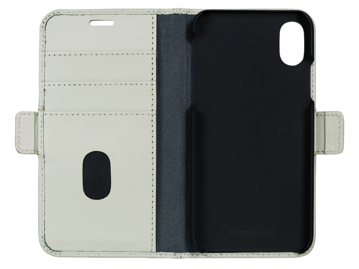 dbramante1928 Milano Ivy Green - Leren iPhone X hoesje