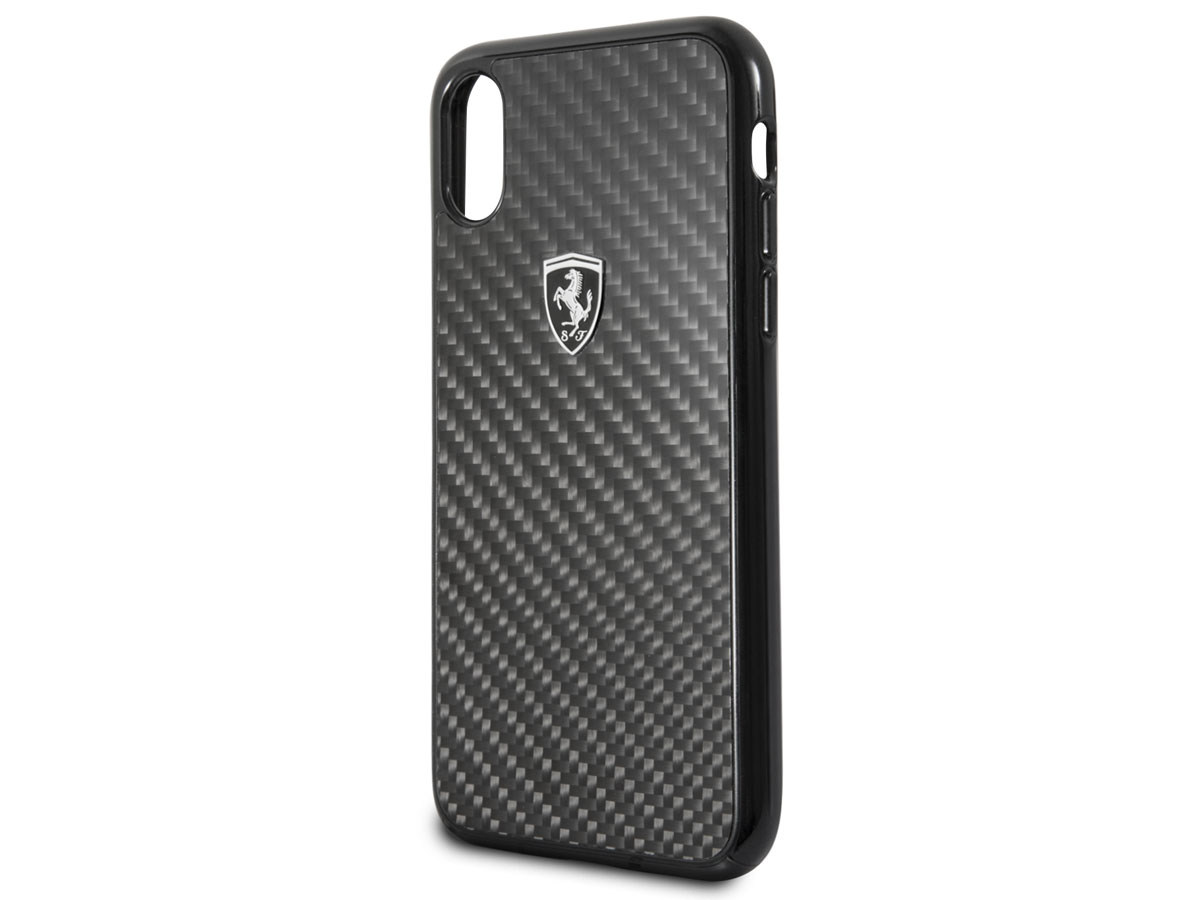 Ferrari Carbon Fiber Case - iPhone X hoesje