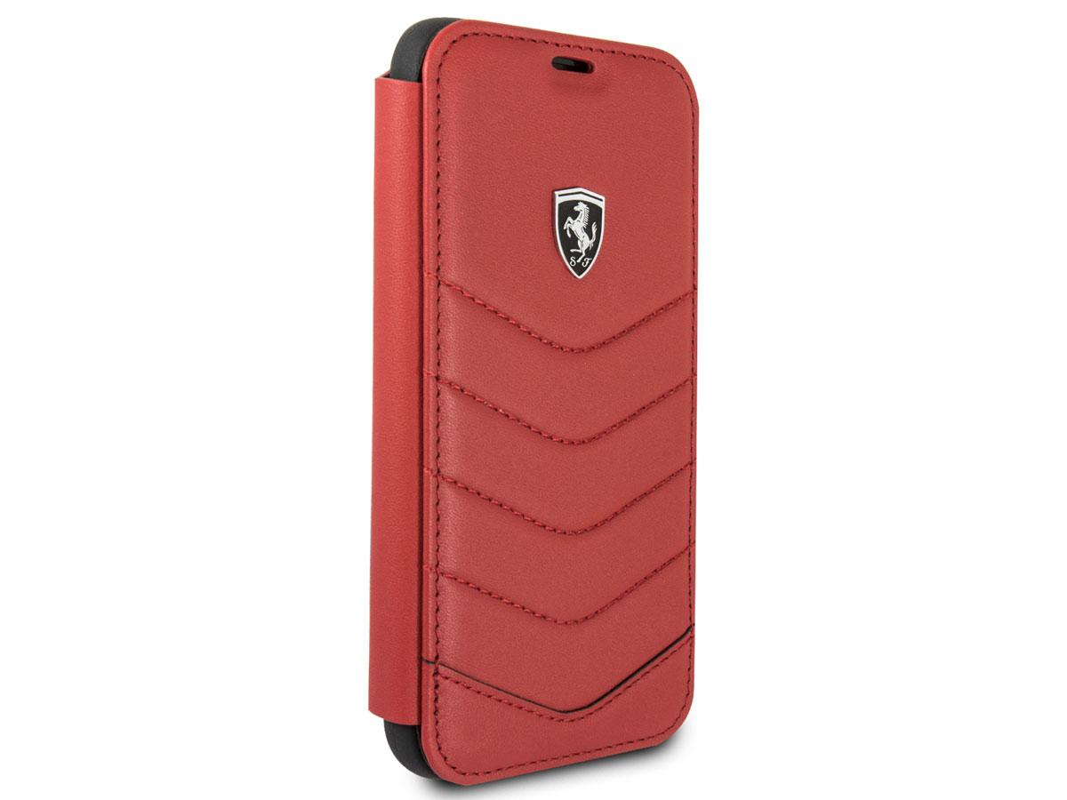 Ferrari Heritage Quilted Book Rood - iPhone X/Xs hoesje