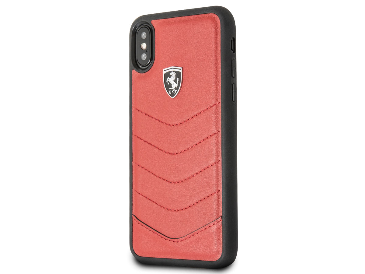 Ferrari Heritage Quilted Case Rood - iPhone X/Xs hoesje