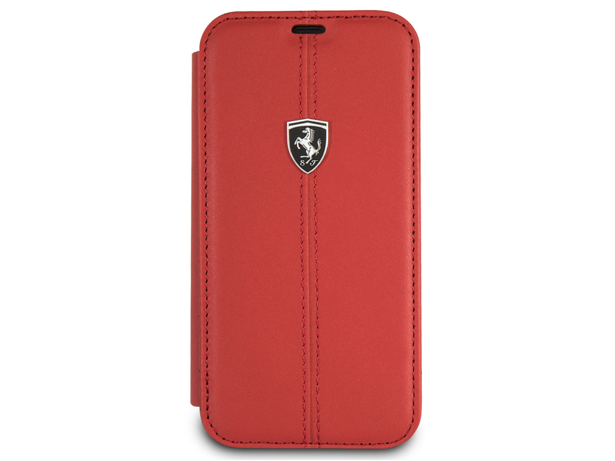 Ferrari Heritage Stitch Book Rood - iPhone X/Xs hoesje