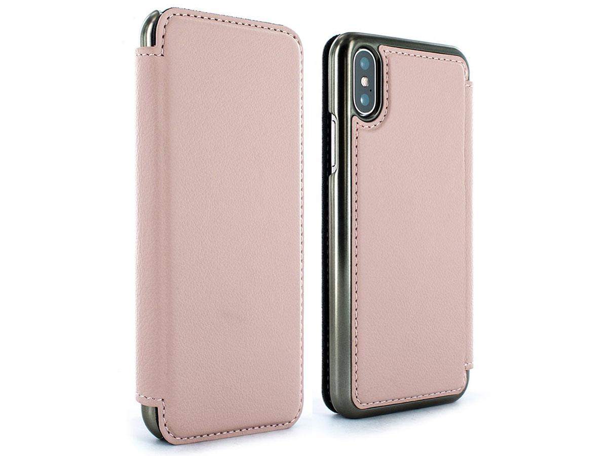Greenwich Blake Folio Blossom/Gunmetal - iPhone X/Xs hoesje Roze