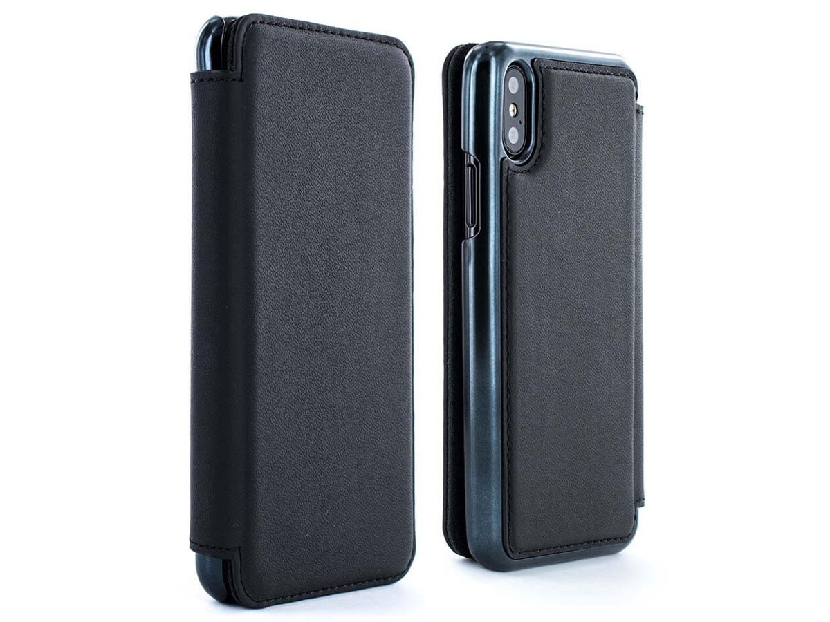 Greenwich Blake Beluga/Black - Leren iPhone X hoesje