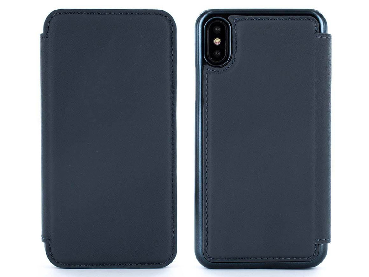 Greenwich Horo Seal/Black - Leren iPhone X hoesje
