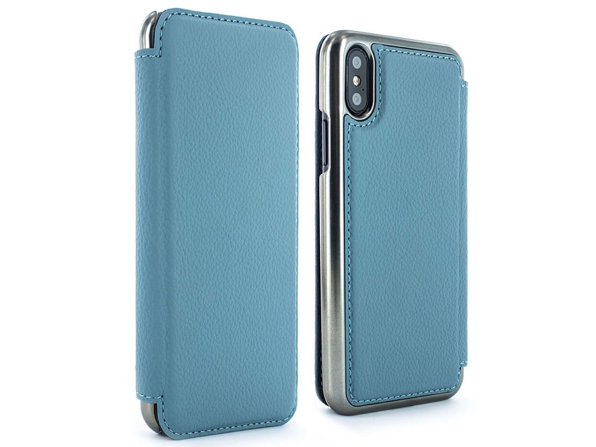 Greenwich Blake Tahiti Blue/Gunmetal - iPhone X hoesje