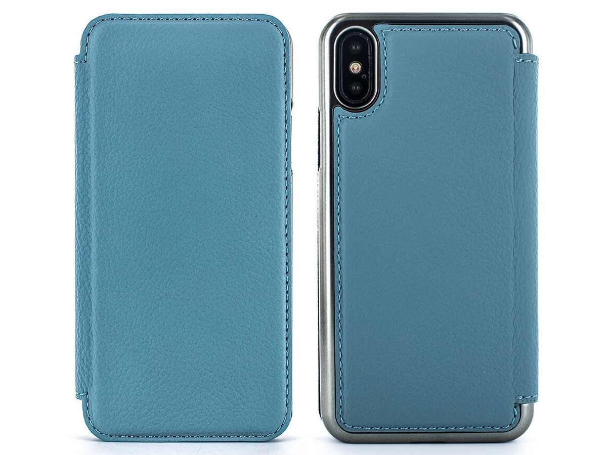 Greenwich Blake Folio Tahiti Blue/Gunmetal - iPhone X/Xs hoesje