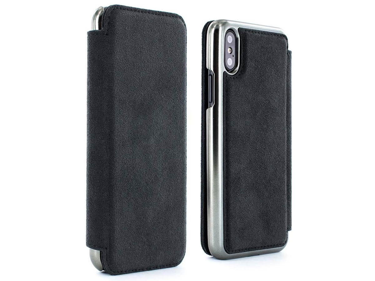 Greenwich Walker Gunmetal - Alcantara iPhone X hoesje