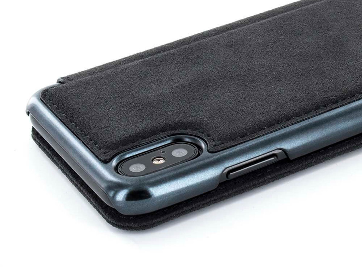 Greenwich Walker Black - Alcantara iPhone X/Xs hoesje