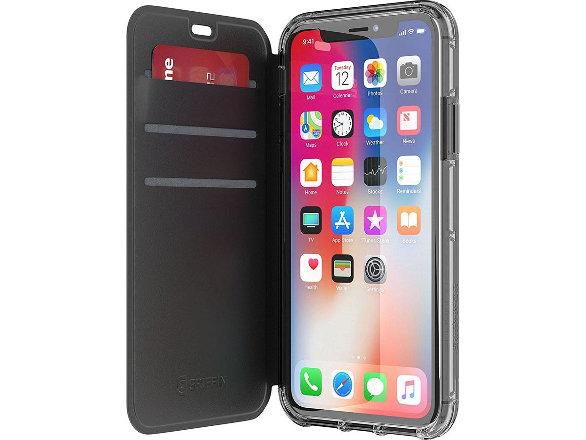 Griffin Survivor Clear Wallet - iPhone X/Xs hoesje Zwart