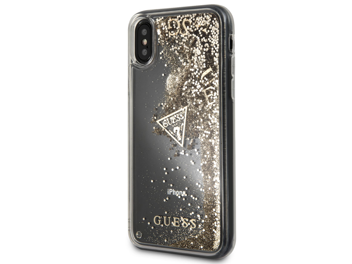 Guess Floating Logo Case Goud - iPhone X hoesje