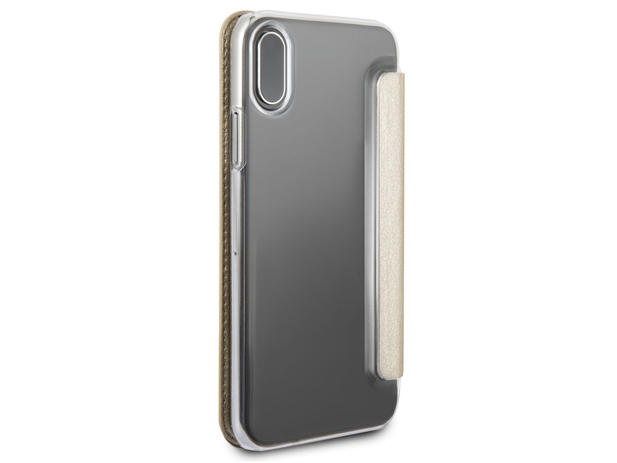 Guess Iridescent Bookcase Goud - iPhone X hoesje