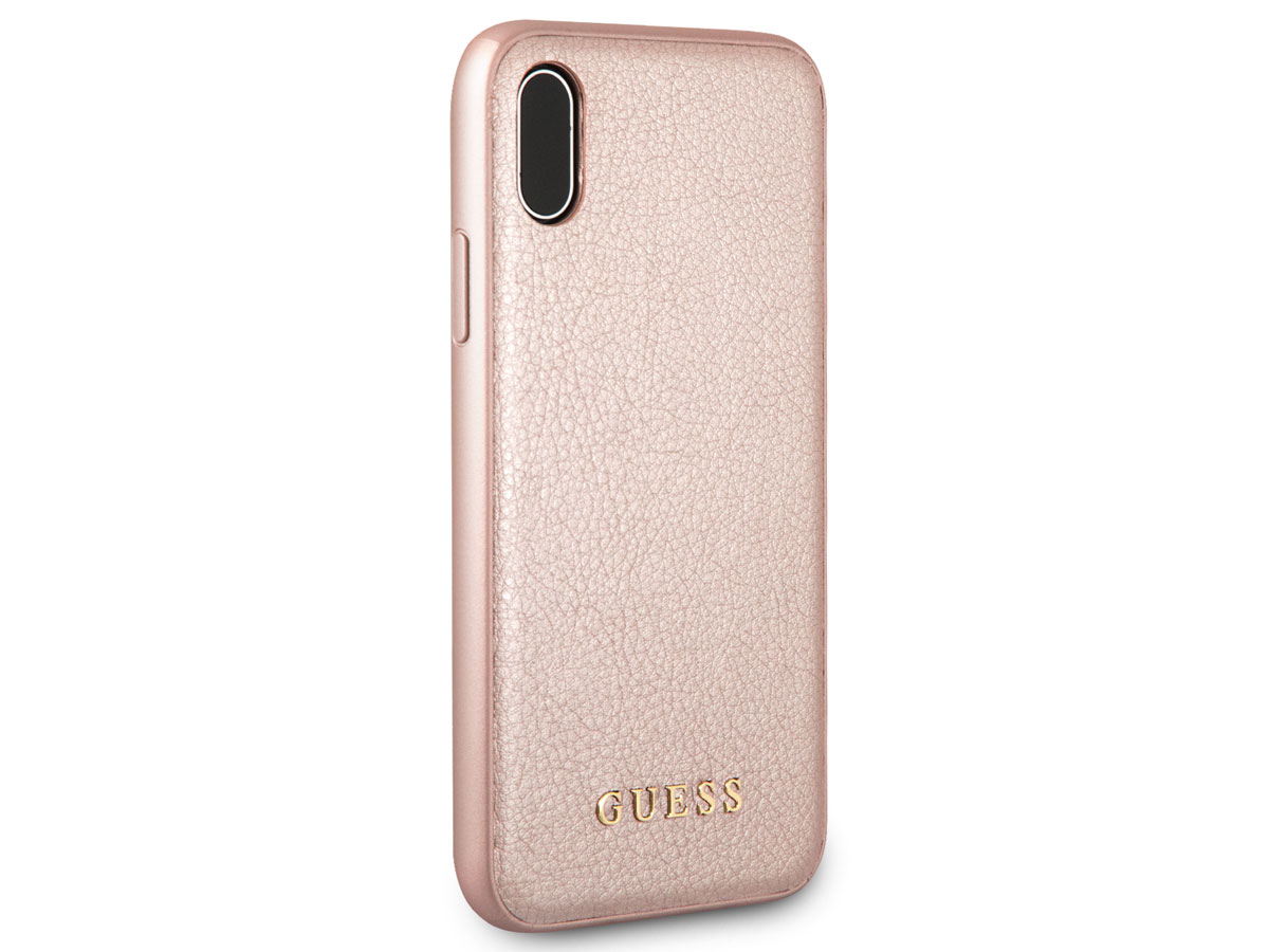 Guess Iridescent Soft Case Rosé - iPhone X/Xs hoesje