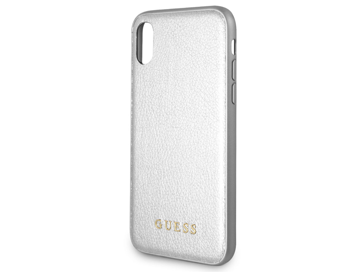 Guess Iridescent Soft Case Zilver - iPhone X/Xs hoesje