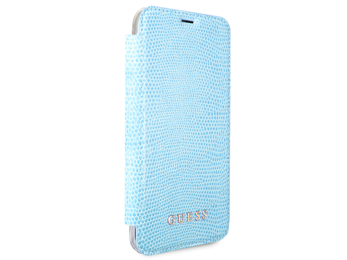 Guess Python Bookcase Blauw - iPhone X/Xs hoesje