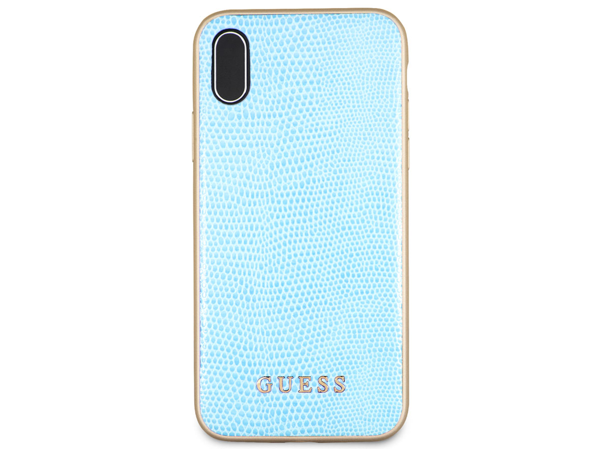 Guess Python Soft Case Blauw - iPhone X/Xs hoesje